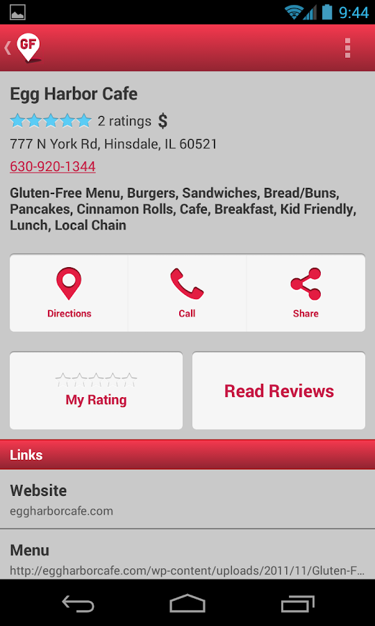 Find Me Gluten Free - screenshot