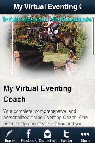My Virtual Eventing Coach