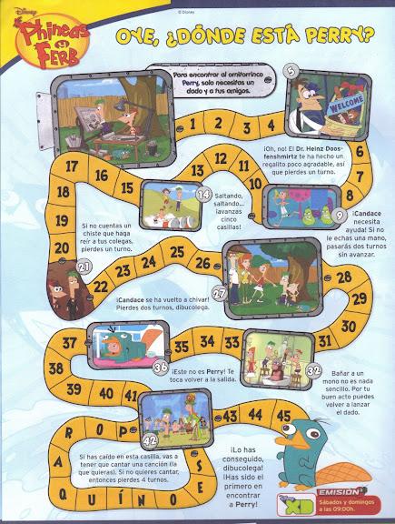 El Blog De Phineas Y Ferb Descargar Juego De Mesa Oye Donde Esta