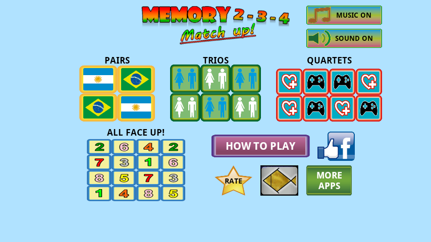 Trainer memory game- screenshot