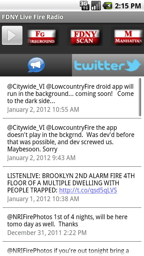 FDNY Live Fire Radio - screenshot