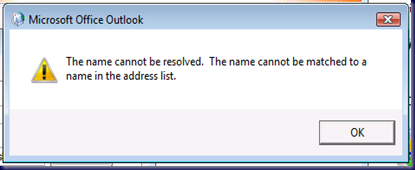 09-03-17 Outlook - Name Cannot Be Resolved
