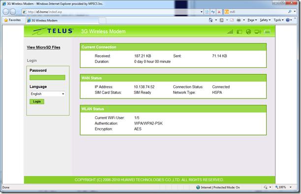 MPECS Inc  Blog: Huawei E5836 Mobile Wi-Fi (MiFi) on TELUS