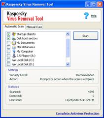 kaspersky virus removal tool 7.0.0.290 gratuit