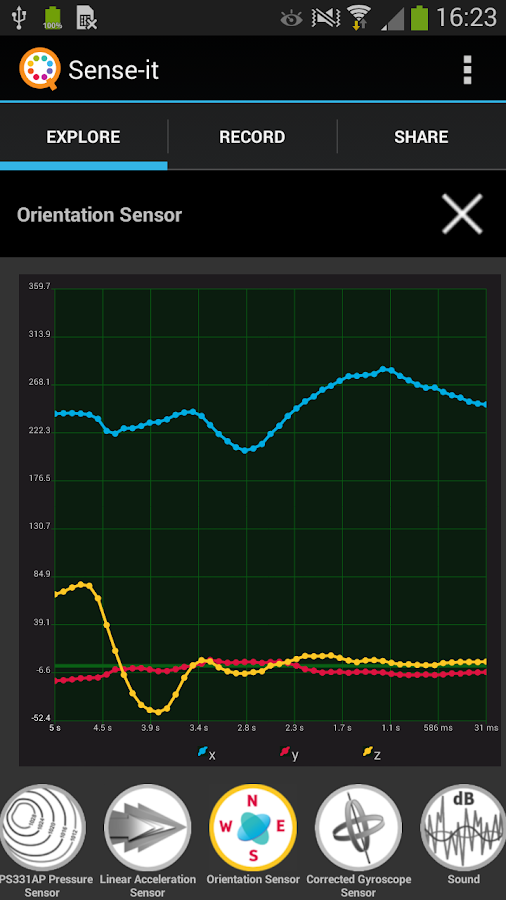 Sense-it (sensors)- screenshot