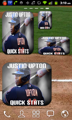 Justin Upton Baseball Widget