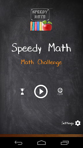 Speedy Math - brain challenge