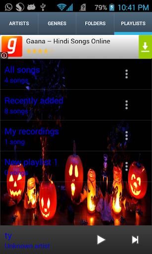 Halloween Theme Music Player