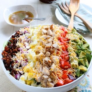 Savory Cobb Salad with Cilantro Lime Dressing