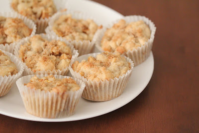 photo of a plate of apple muffins