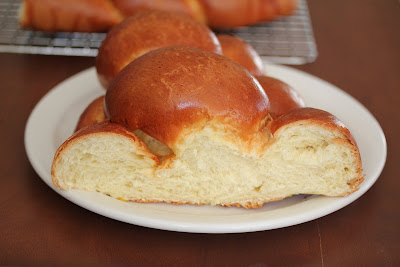 photo of a slice of challah bread