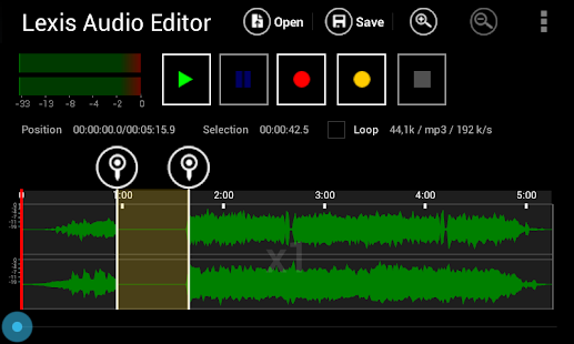 Lexis Audio Editor - náhled
