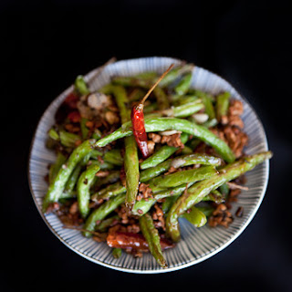 Sichuan Dry-Fried Green Beans.
