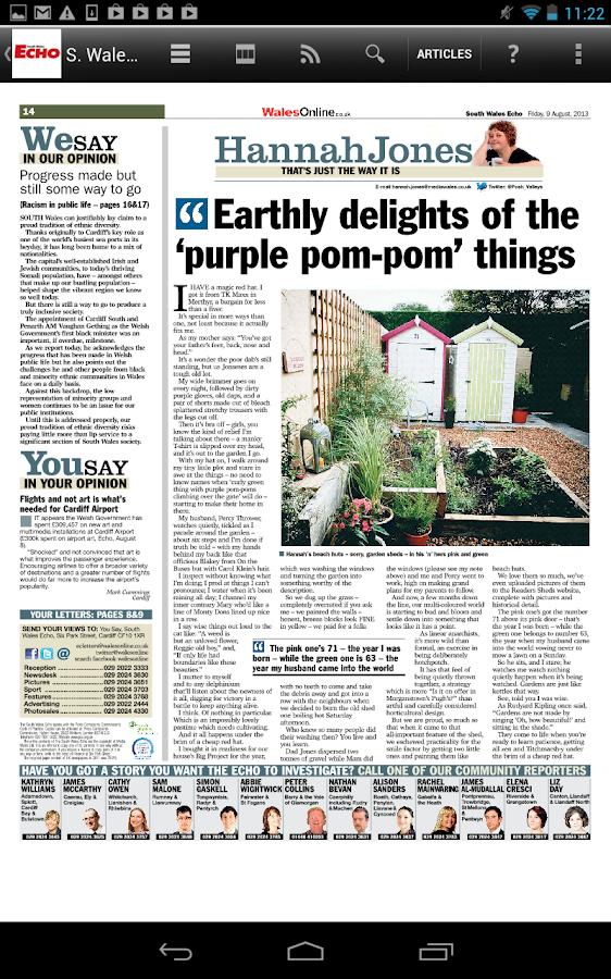 South Wales Echo Newspaper - screenshot