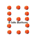 8-bits buttons logo