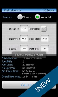 Trip calculator - screenshot thumbnail