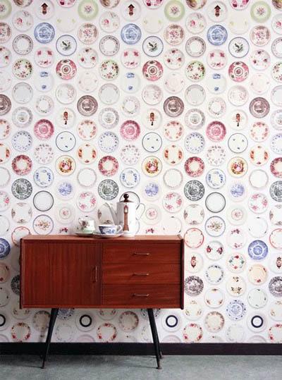 retro floral geomtrico vintage psicodlico de colores fuertes o tonos suaves podis darle cualquier estilo a una habitacin slo empapelando una