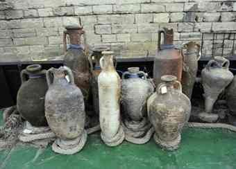 Collection of Roman amphorae