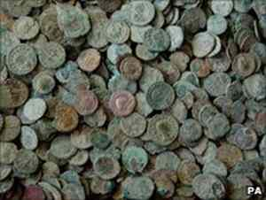 Coin hoard goes on public display at Frome Library