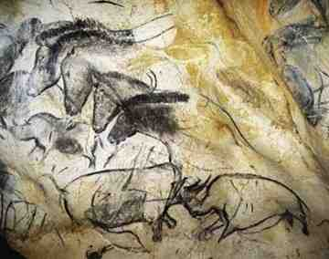 Chauvet Cave_Horses and Rhinos