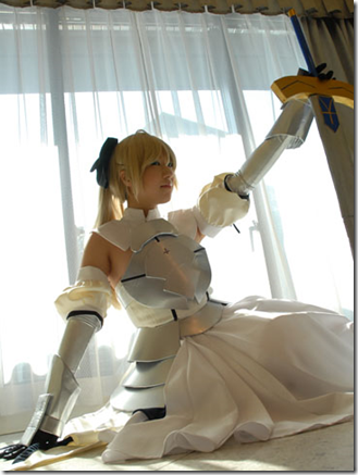 fate/unlimited codes cosplay - saber lily