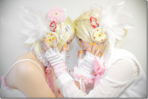 vocaloid 2 cosplay - kagamine rin and len by enearn and asumichan