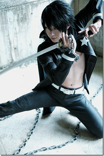 vocaloid cosplay - kaito 03 black rock shooter by kaname