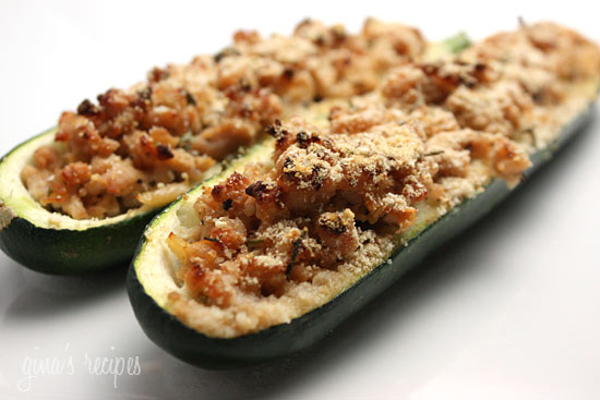 Turkey Stuffed Zucchini Skinnytaste