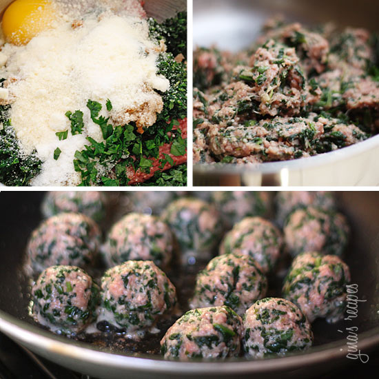 These amazing Italian Beef and Spinach Meatballs would make my husband's Italian family proud! I snuck some spinach in the meatball mix, but I promise even the pickiest of eaters will love them!