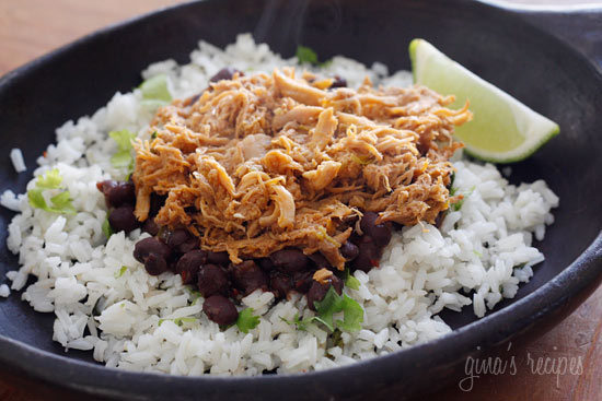 Sweet and spicy slow cooked pork sweetened with brown sugar, cola, chipotle chilies, green chilies, cumin and spices. Delicious over cilantro lime rice and black beans.