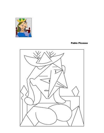 Cuadros De Picasso Para Colorear
