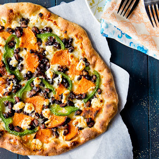 Sweet Potato, Black Bean, and Goat Cheese Pizza