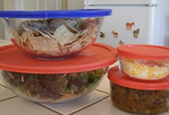 Taco salad recipe and ideas for using the leftover salad ingredients