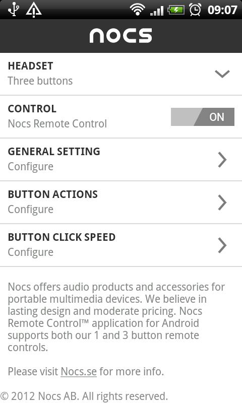 Nocs Remote Control™ - screenshot