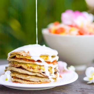 Coconut & Banana Pancake Cake