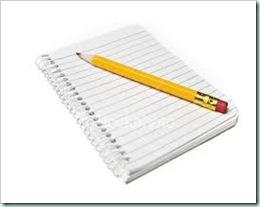 pencil notebook