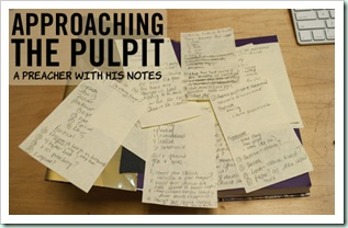 approaching-the-pulpit-a-preacher-with-his-notes
