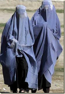 burka pair walking