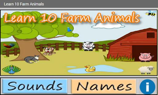 Learn 10 Farm Animals