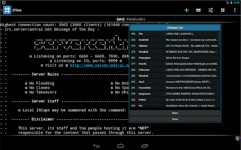 Android IRC - Internet Chat - screenshot thumbnail