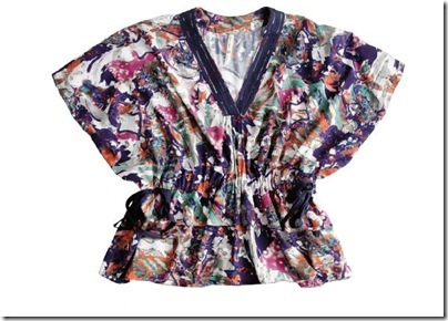 Blusa ampla de viscose Shoulder - R$239,00