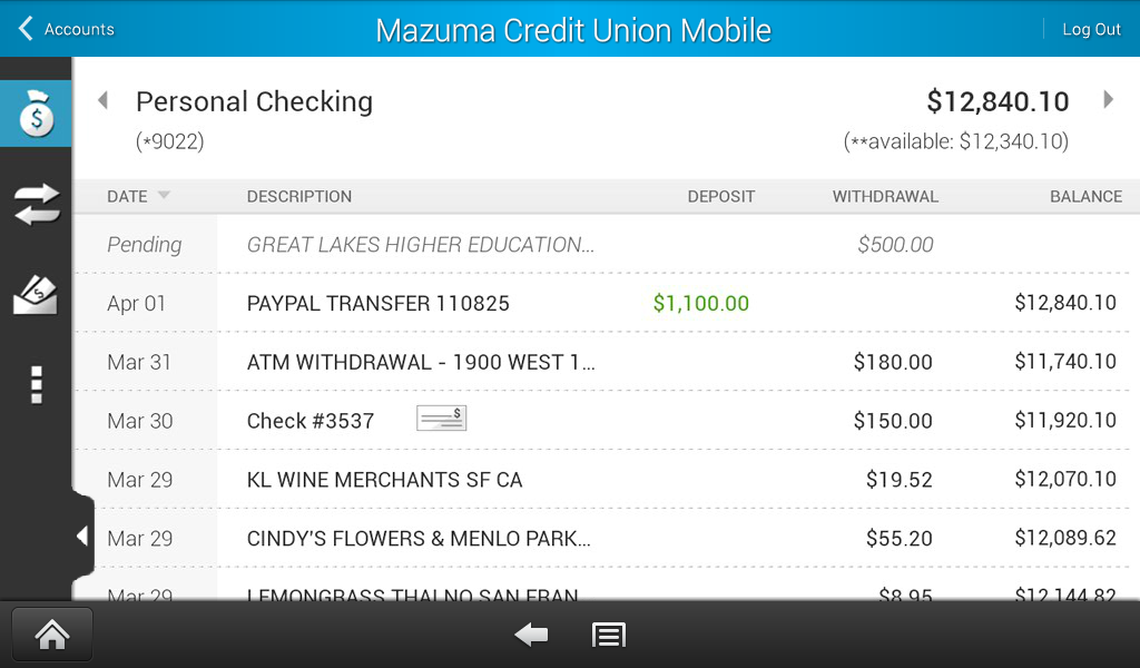 Mazuma Mobile Banking - screenshot