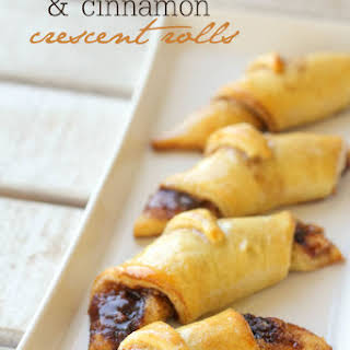 Cream Cheese and Cinnamon Crescent Rolls.