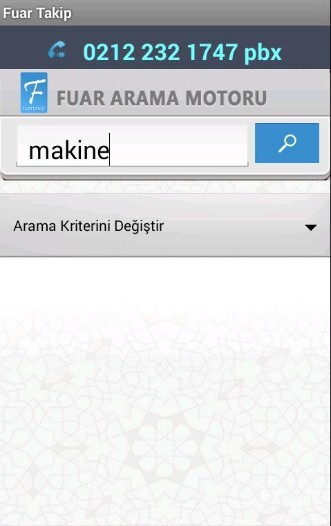 Fuar Takip - Fuar Arama Motoru- screenshot