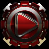 Poweramp skin Red Magnet
