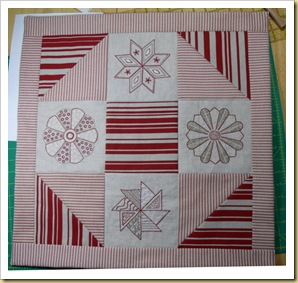 Patsy's embroidery patchwork quilt