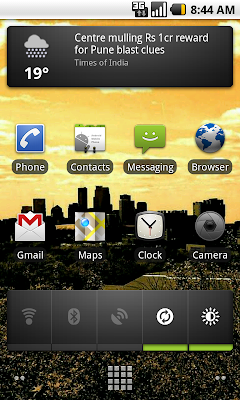 homescreen news widget