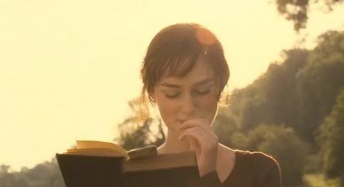 Elizabeth Bennet reading