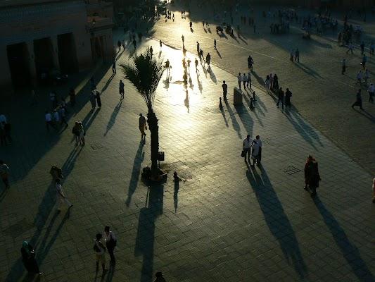 Imagini Maroc: Jema el-Fnaa Marrakech - apus de soare