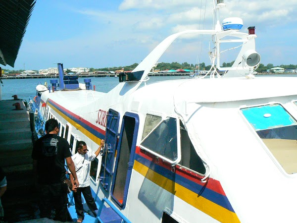 Atractii Malaezia: debarcare Pulau Labuan.JPG